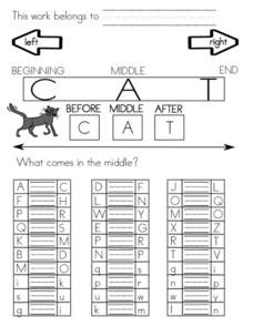 Alphabet Sequence Worksheet