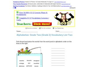 Alphabetize Worksheet