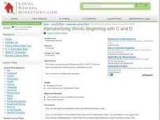 Alphabetizing Words Beginning with C and D Lesson Plan