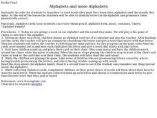 Alphabets And More Alphabets Lesson Plan
