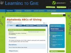Alphabody ABCs of Giving Lesson Plan