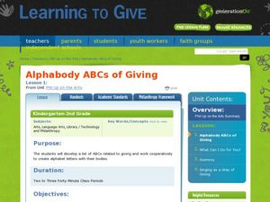 Alphabody's ABC of Giving Lesson Plan