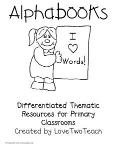 Alphabooks (A-D) Lesson Plan