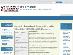 Alternative Energy Part II - Lesson Eight of Eight - Energy Conversion and Propulsion Lesson Plan