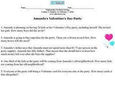 Amanda's Valentine's Day Party Worksheet