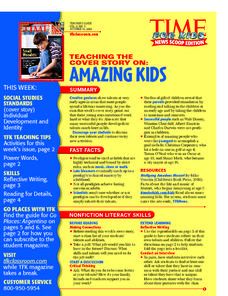 Amazing Kids Lesson Plan