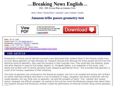 Amazon Tribe Passes Geometry Test Worksheet