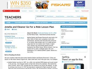 Amelia and Eleanor Go For a Ride Lesson Plan Lesson Plan