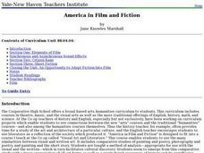 America in Film and Fiction Lesson Plan
