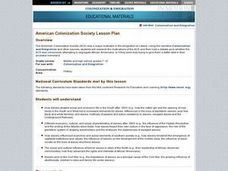 American Colonization Society Lesson Plan