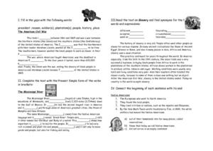 American History Worksheet
