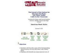 American Music Styles - Lesson 1 Lesson Plan