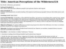 American Perceptions of the Wilderness Lesson Plan