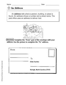 An Address Worksheet