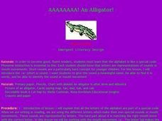 An Alligator! Lesson Plan