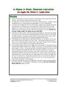An Apple Pie When It Looks Nice Lesson Plan