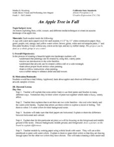 An Apple Tree in Fall Lesson Plan