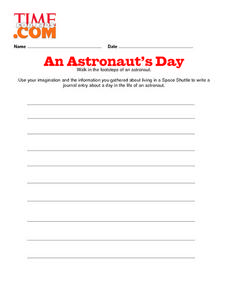 An Astronaut's Day Lesson Plan