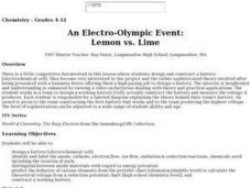 An Electro-Olympic Event: Lemon vs. Lime Lesson Plan