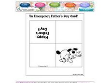 An Emergency Father's Day Card! Worksheet