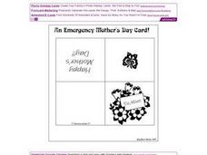 An Emergency Mother's Day Card! Worksheet
