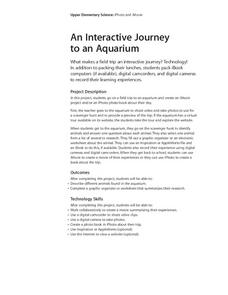 An Interactive Journey to an Aquarium Lesson Plan