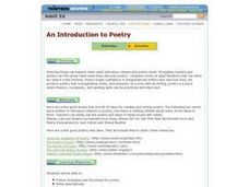 An Introduction to Poetry Lesson Plan