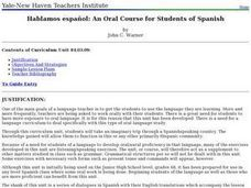 An Oral Course for Students of Spanish Lesson Plan