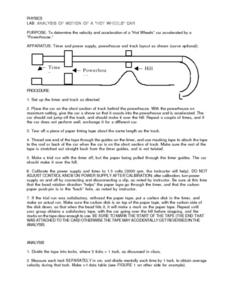 "Analysis of Motion of a ""Hot Wheels"" Car Lesson Plan"