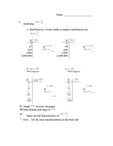 Analyzing Functions 9th - 12th Grade Worksheet   Lesson Planet