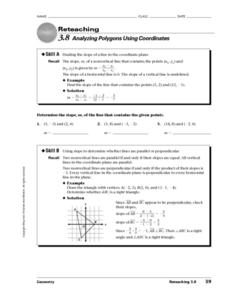 Analyzing Polygons Using Coordinates Worksheet