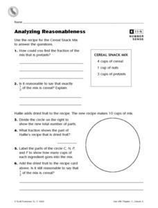 Analyzing Reasonableness Worksheet