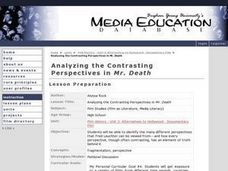 Analyzing the Contrasting Perspectives in Mr. Death Lesson Plan
