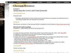 Analyzing the Lewis and Clark Journals Lesson Plan
