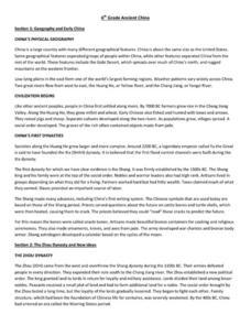 ancient china 6th 7th grade worksheet lesson planet. Black Bedroom Furniture Sets. Home Design Ideas