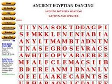 Ancient Egyptian Dancing Worksheet