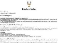 Ancient Hebrews Lesson Plan