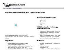 Ancient Mesopotamian and Egyptian Writing Lesson Plan