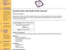 Ancient Ones, the Study of the Anasazi Lesson Plan