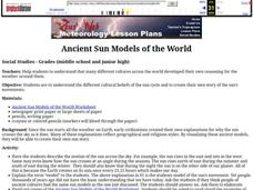 Ancient Sun Models of the World Lesson Plan