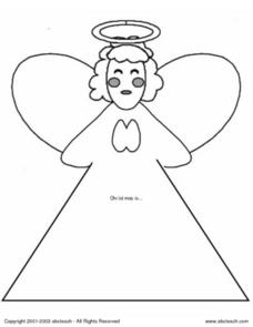 Angel Coloring Worksheet Worksheet