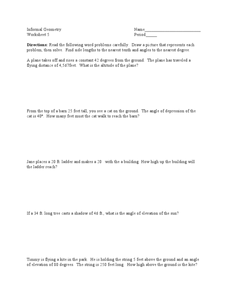 Angle Measurements Worksheet