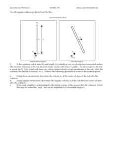 Angular Momentum Worksheet