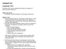 Animal Act Lesson Plan