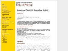 Animal and Plant Cell Journaling Activity Lesson Plan