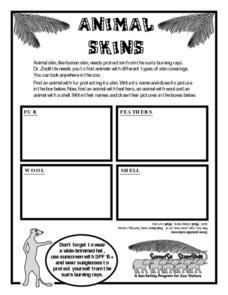 Animal Skin-  Zoo Animals Protect Themselves From the Sun Worksheet