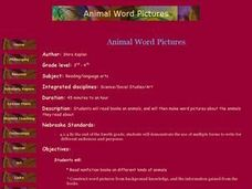 Animal Word Pictures Lesson Plan