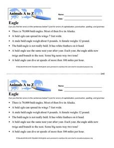 Animals A to Z: Eagle Worksheet