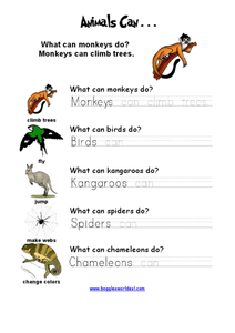 Animals can... Worksheet