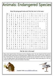 Printables Endangered Species Worksheets animals endangered species 3rd 6th grade worksheet lesson planet worksheet